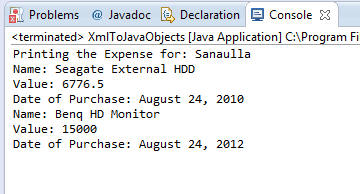 Using JAXB to generate Java Objects from XML document