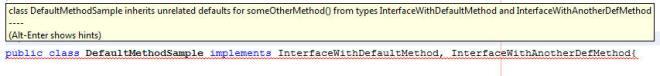 Default Method Error