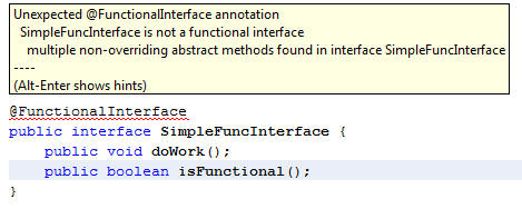 Functional Interface Error