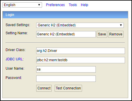 Configure Embedded H2 Console With Spring MVC Application